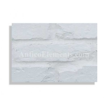 "Faux Reclaimed 27"" Panel Brick Sample - White - With Rebate - Free Standard Shipping"