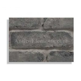 "Faux Reclaimed 27"" Panel Brick Sample - Charcoal - With Rebate - Free Standard Shipping"