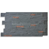Faux Stacked Slate Panel - Midnight