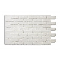 "Faux Reclaimed Brick 28"" - White"