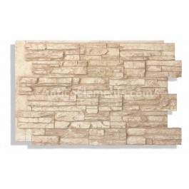 "Laguna 24"" x 36"" Faux Stacked Stone - Latte"