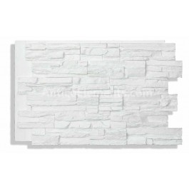 Laguna 24x36 Faux Stacked Stone - White