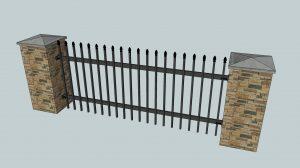 Railing between posts