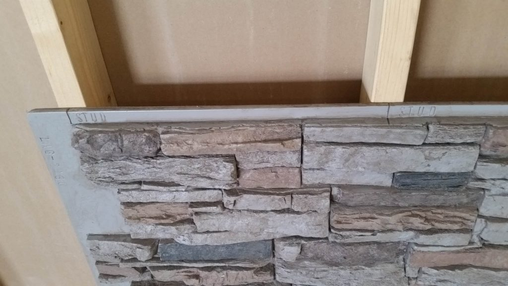 Stud lines embedded in the stone panel Laguna