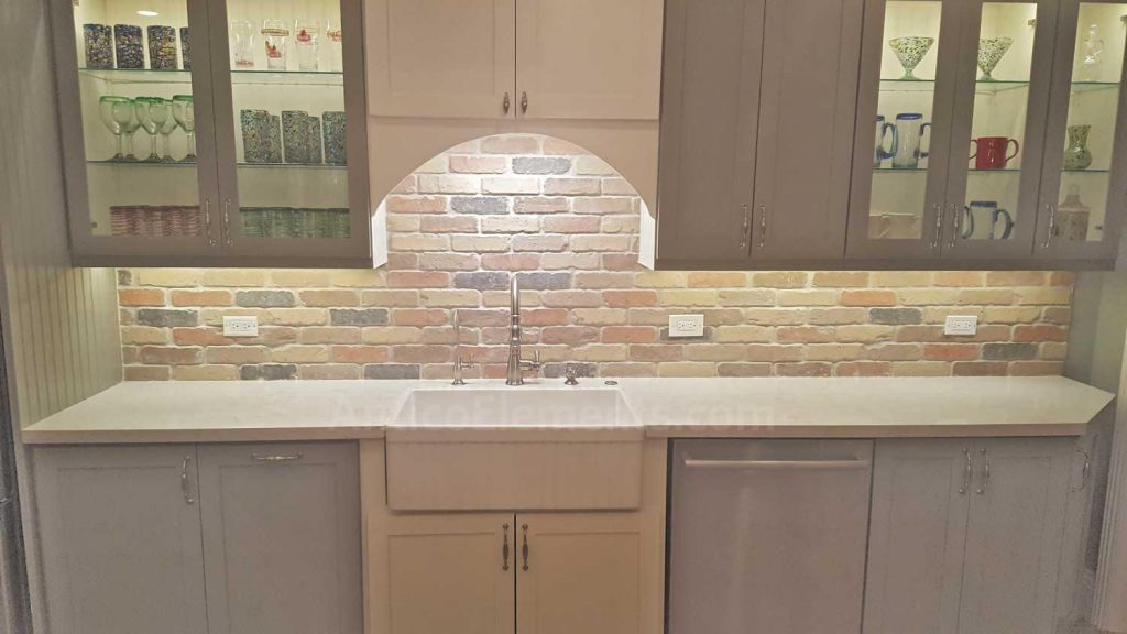 Kitchen Brick Backsplash