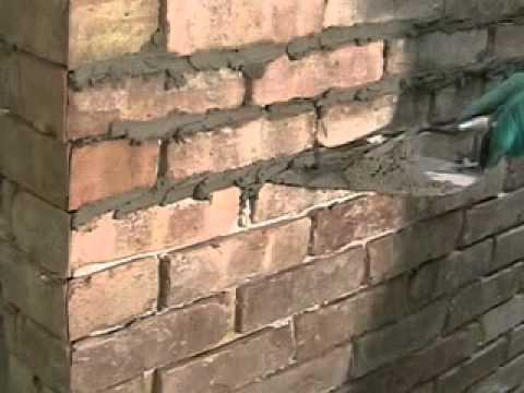 Brick Installation With Mortar