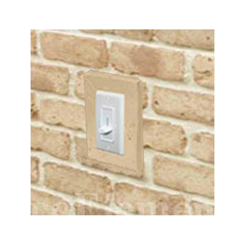 Outlet And Switch Brick Trim Installed