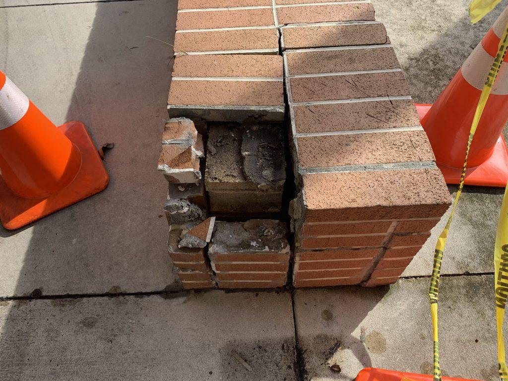 Real Brick That Cracks And Separates