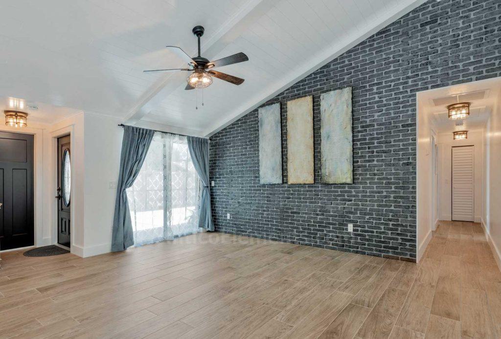 Charcoal brick wall decor paneling