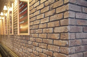 Uses of faux brick for commercial and residential