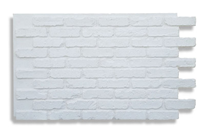 White brick panel used in the set above