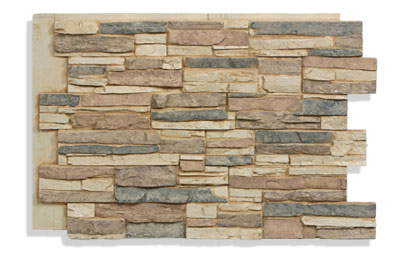 "36"" Faux Stone Panels In Cappuccino"