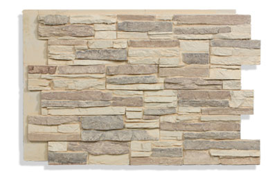 Laguna Stacked Stone Siding Panels In Desert Color