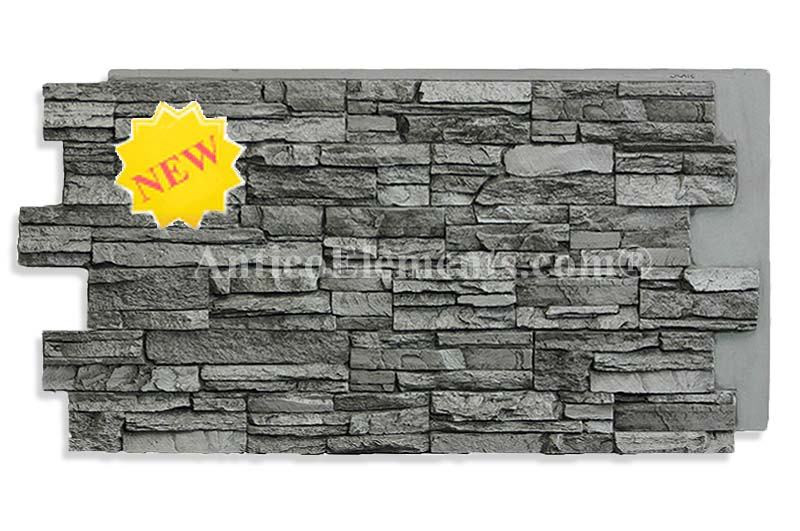 Alpi Faux Stacked Stone In Slate Color