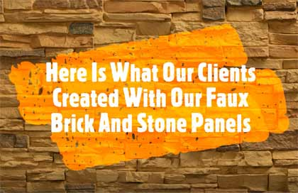 Video of faux brick and stone projects