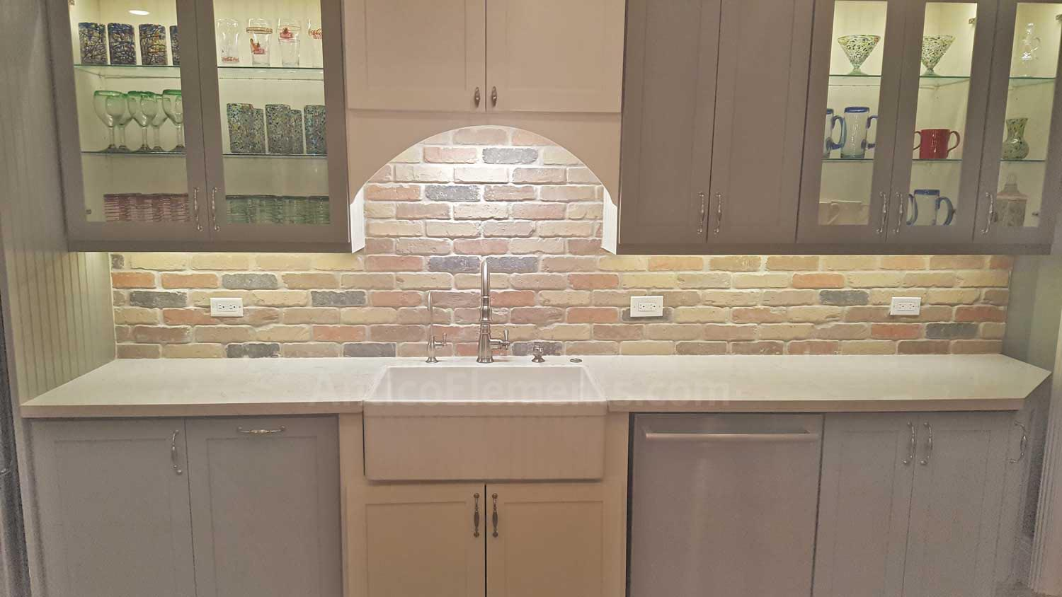 Brick Paneling In Kitchen Backsplash