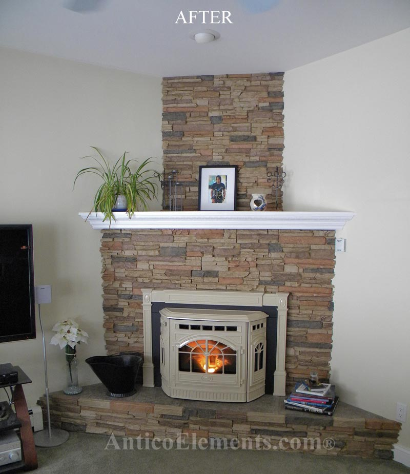 Testimonials and reviews Corner rock fireplace designs