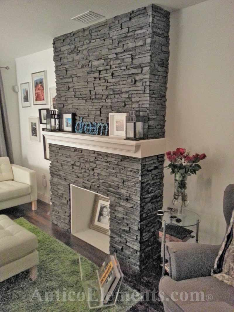 Fireplace With Faux Stone Panels Refacing  Https://www.anticoelements.com/images/testimonials_photos/Hink1.