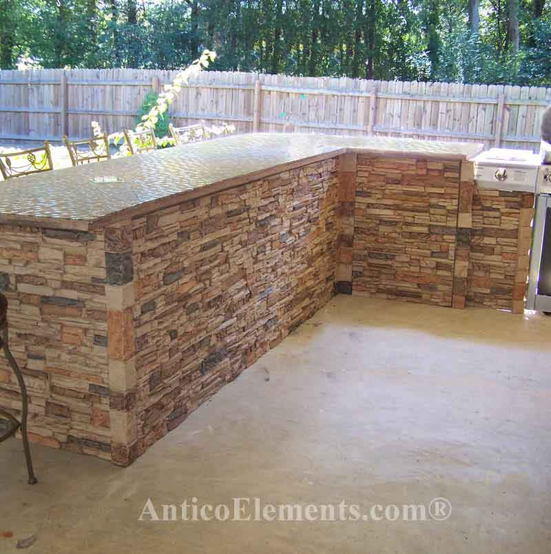 Sand Faux Stone For Outdoor BBQ