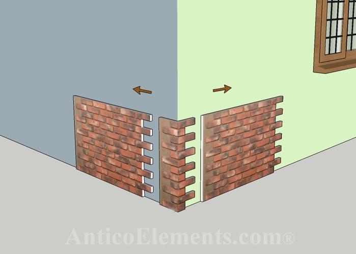 Faux Brick Corner